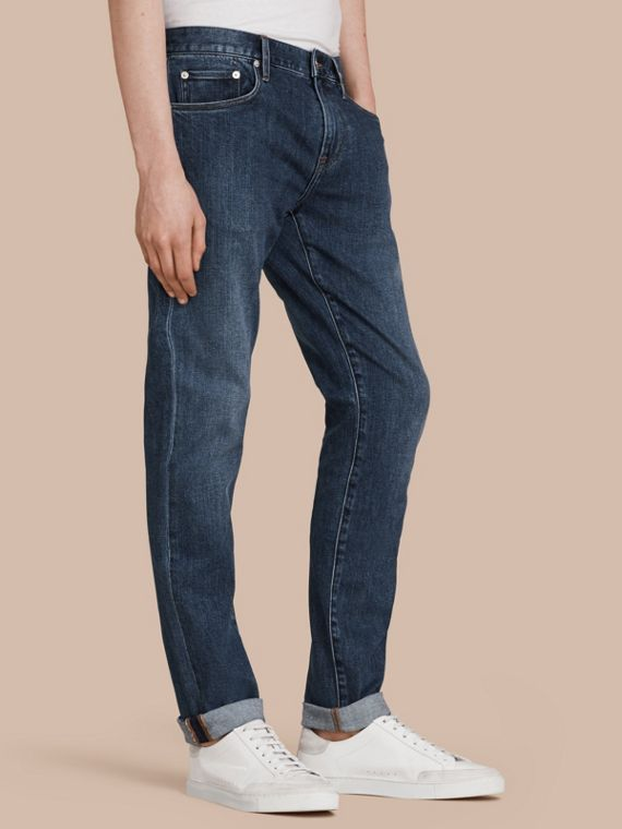 Jeans aderenti in denim giapponese