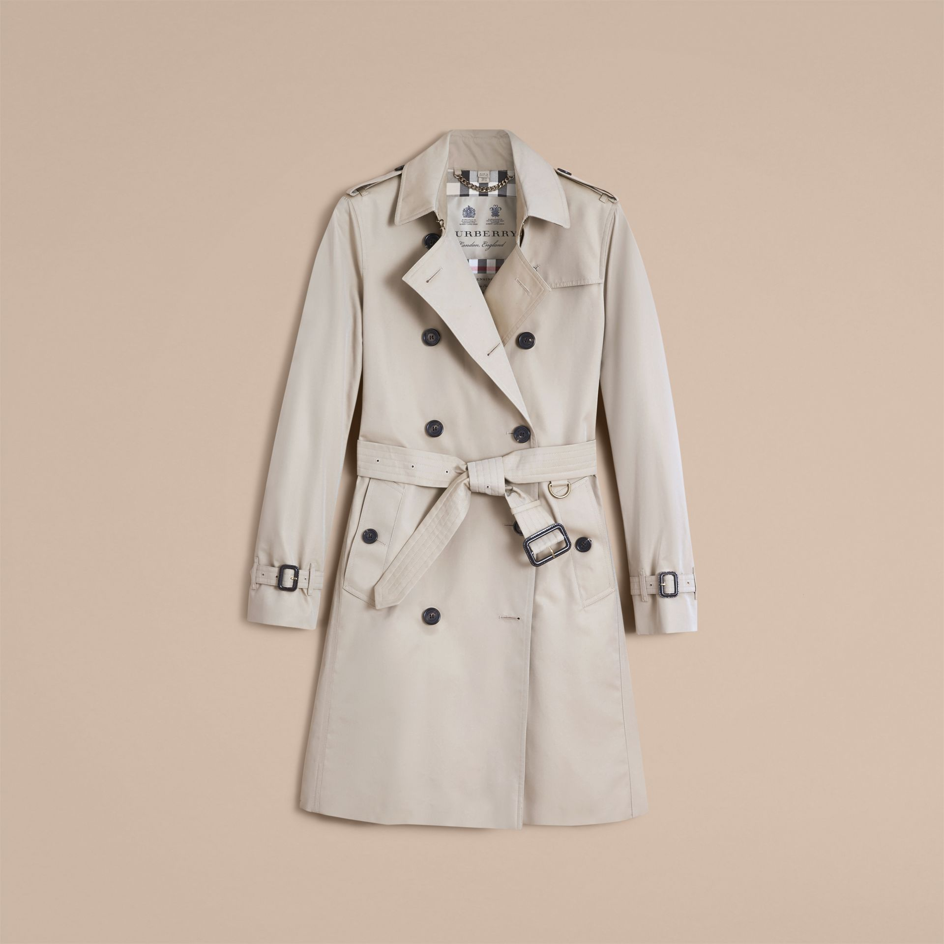 The Kensington – Long Heritage Trench Coat in Stone - Women | Burberry - gallery image 4