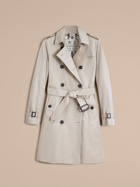 The Kensington – Long Heritage Trench Coat in Stone - Women | Burberry - cell image 3