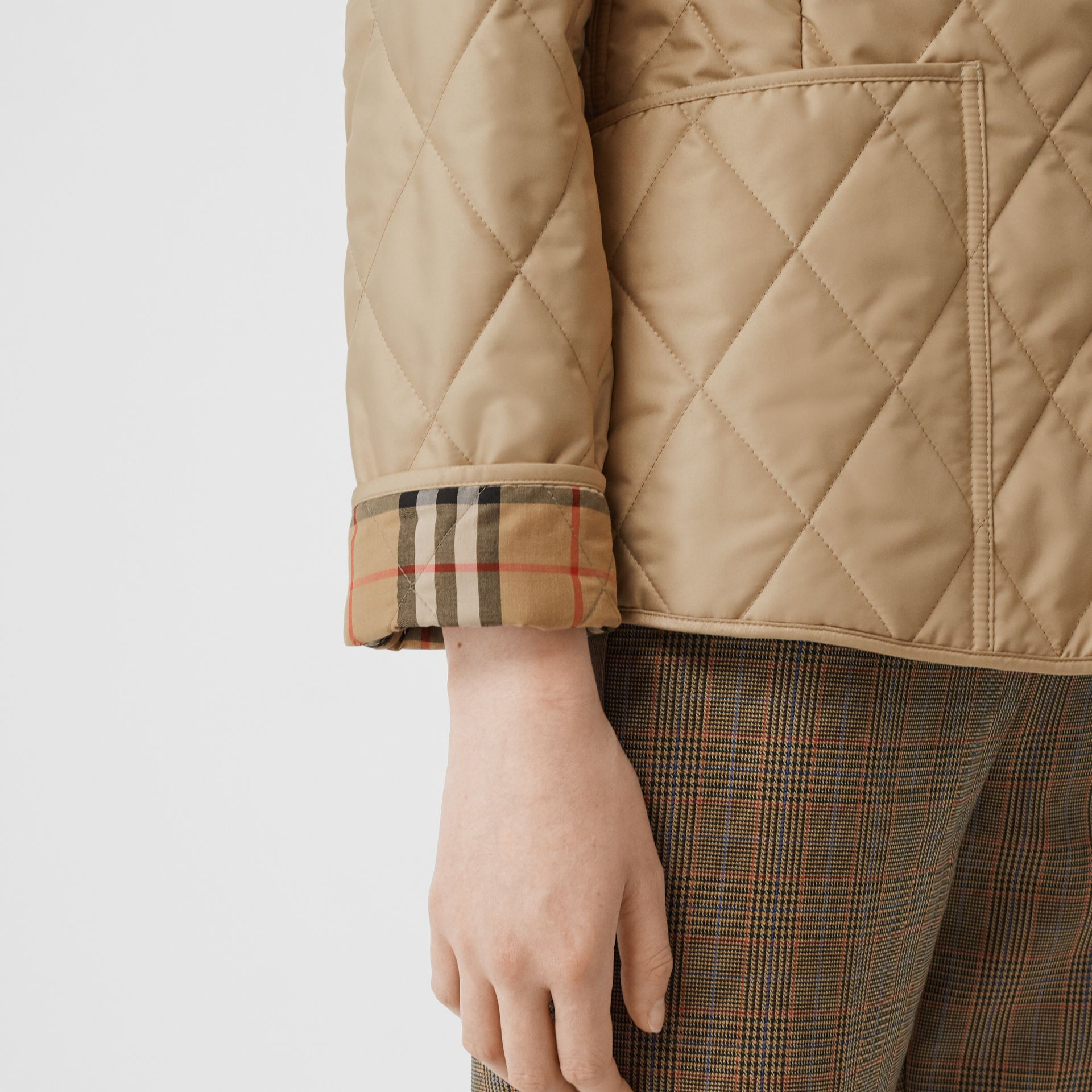 Diamond Quilted Thermoregulated Jacket in New Chino - Women | Burberry United States - gallery image 5