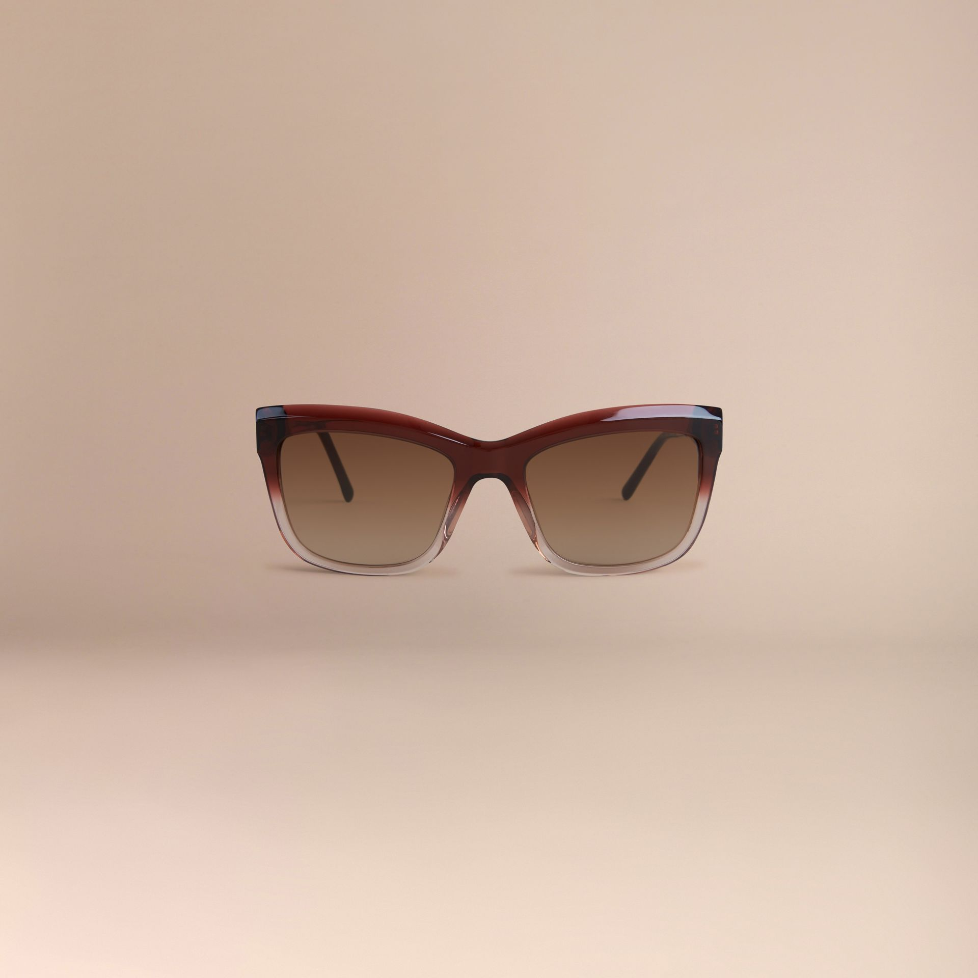 Rosso militare scuro Occhiali da sole con montatura quadrata collezione Pizzo di Gabardine Rosso Militare Scuro - immagine della galleria 3