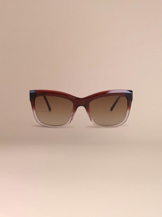 Rosso militare scuro Occhiali da sole con montatura quadrata collezione Pizzo di Gabardine Rosso Militare Scuro - cell image 2