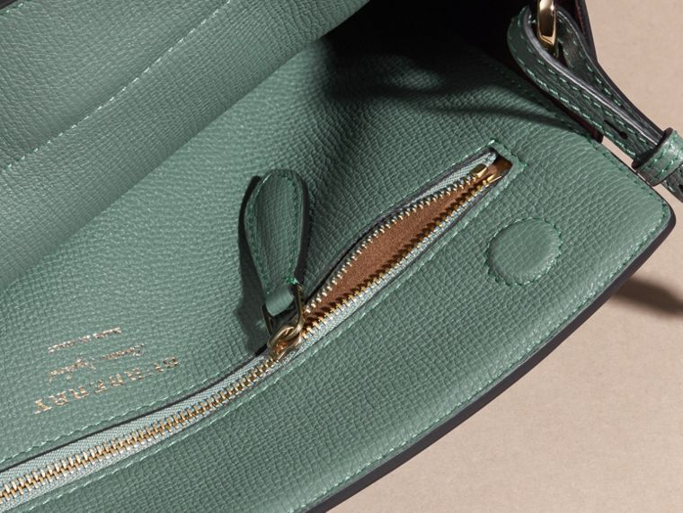 Smokey green The Saddle Clutch in Grainy Bonded Leather Smokey Green - cell image 4