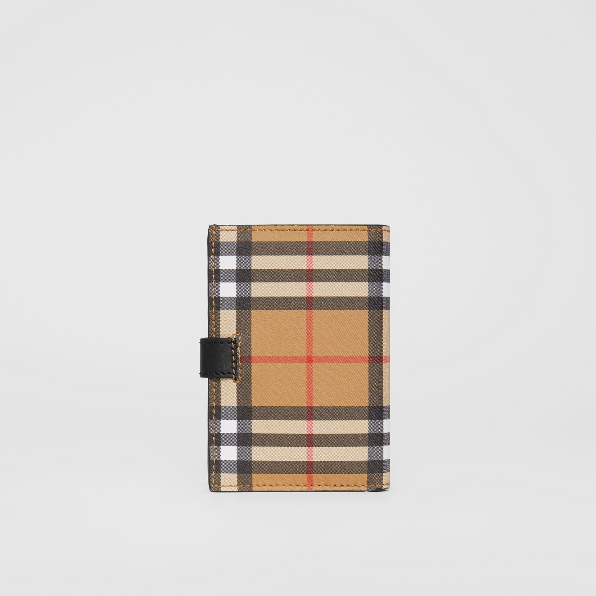 Vintage Check and Leather Folding Wallet in Black - Women | Burberry - gallery image 5