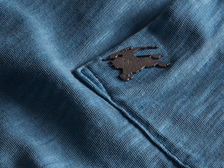 Bleu lupin T-shirt en jersey flammé double teinture Bleu Lupin - cell image 1