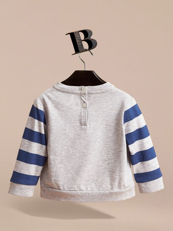 Long-sleeve London Icons Print Cotton T-shirt | Burberry - cell image 3