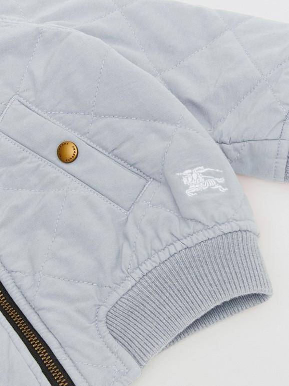 Giacca con cappuccio trapuntata in cotone (Blu Polvere) - Bambini | Burberry - cell image 1
