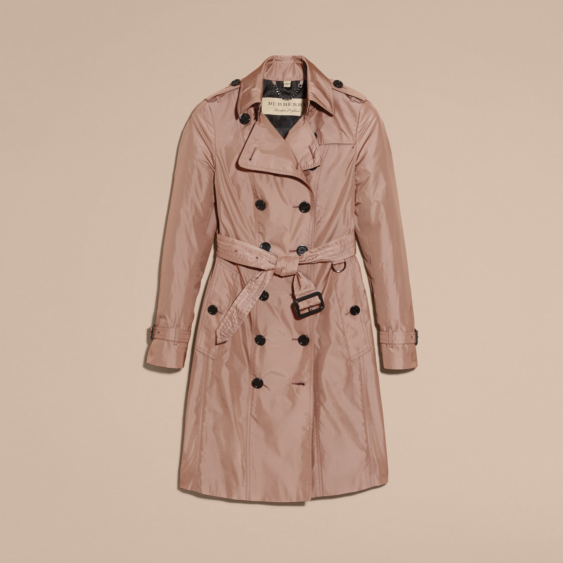 Nude Long Technical Trench Coat - gallery image 4