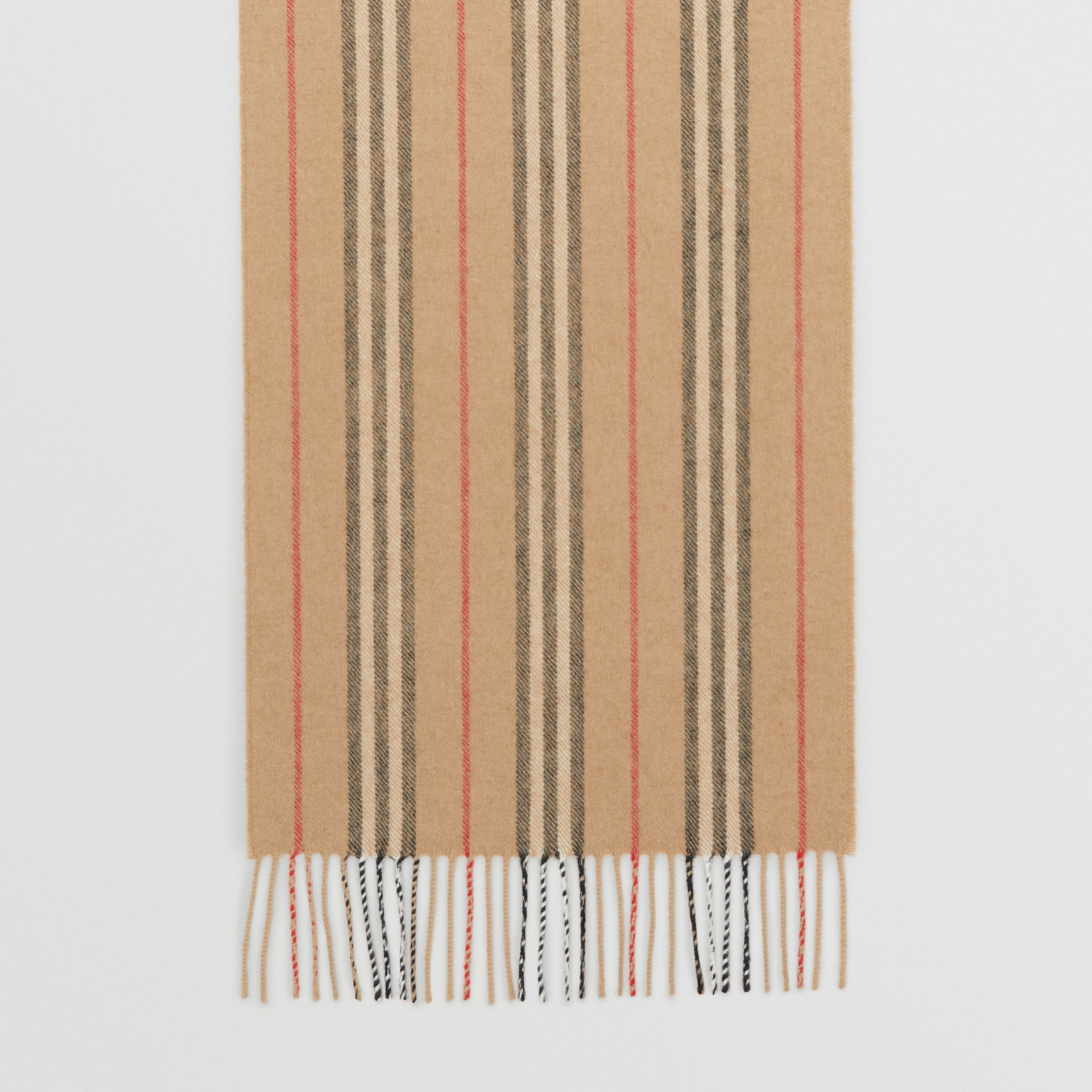 Icon Stripe Cashmere Scarf in Archive Beige | Burberry - gallery image 3