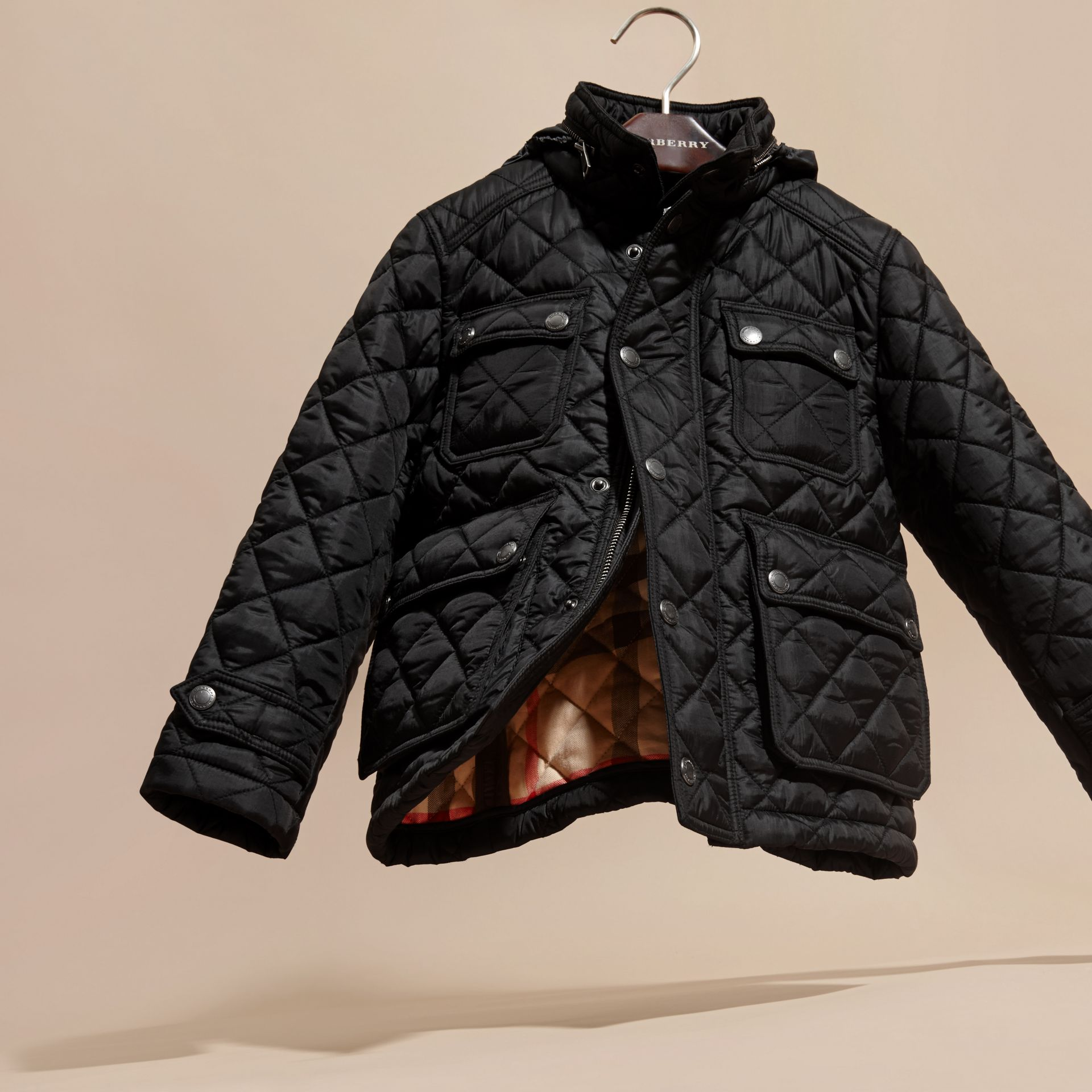 Diamond Quilted Field Jacket - Boy | Burberry - gallery image 3