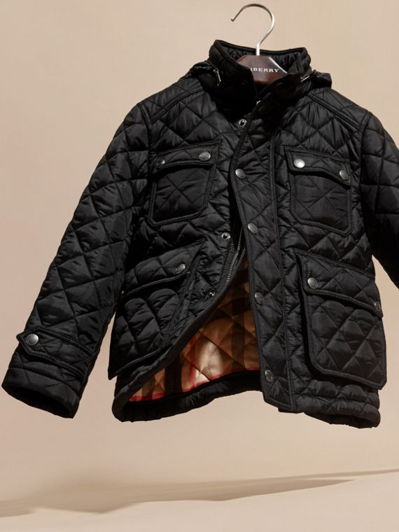 Diamond Quilted Field Jacket - Boy | Burberry - cell image 2