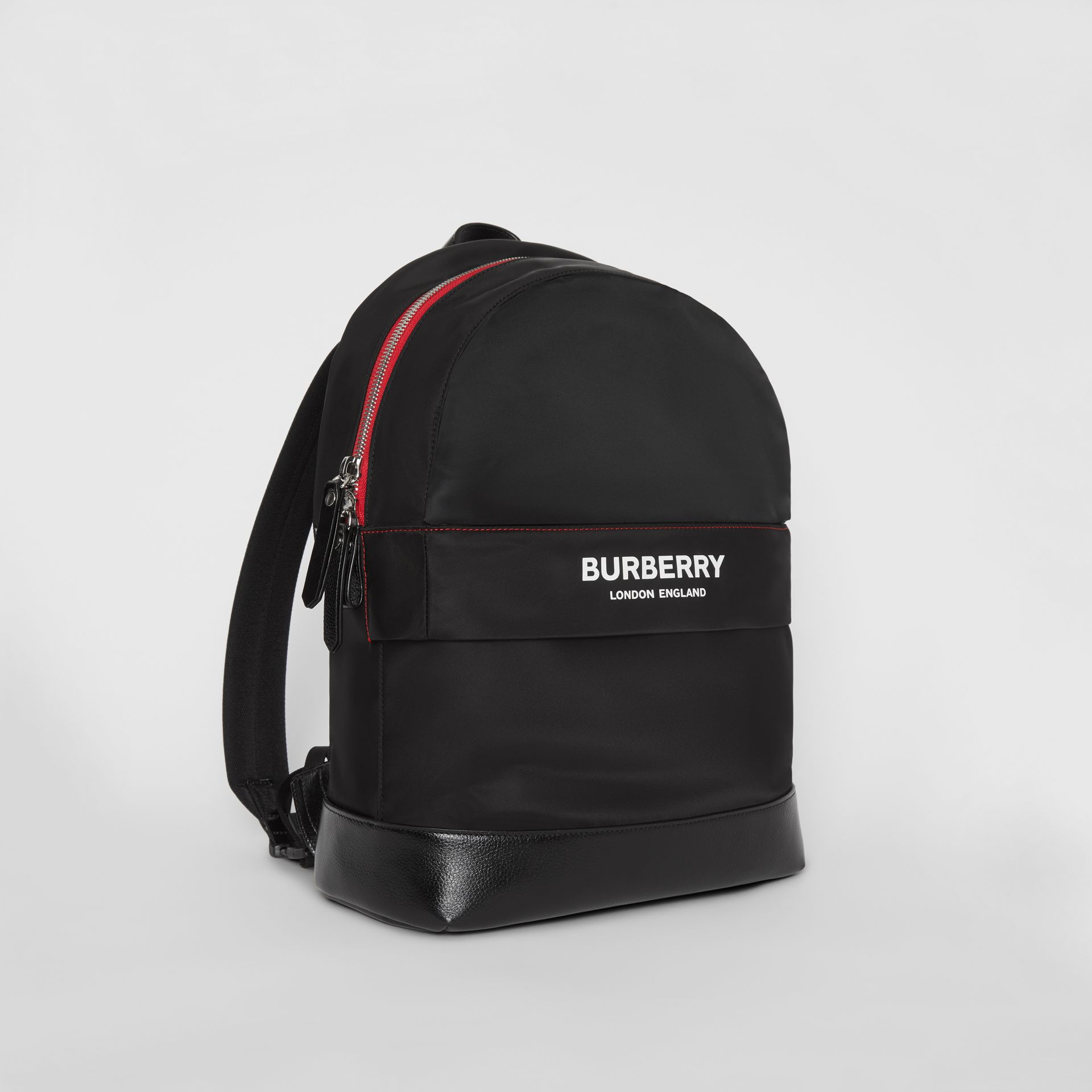 Logo Print Backpack in Black - Children | Burberry - gallery image 4