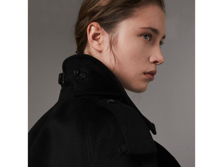 Cashmere Trench Coat in Black - Women | Burberry - cell image 4