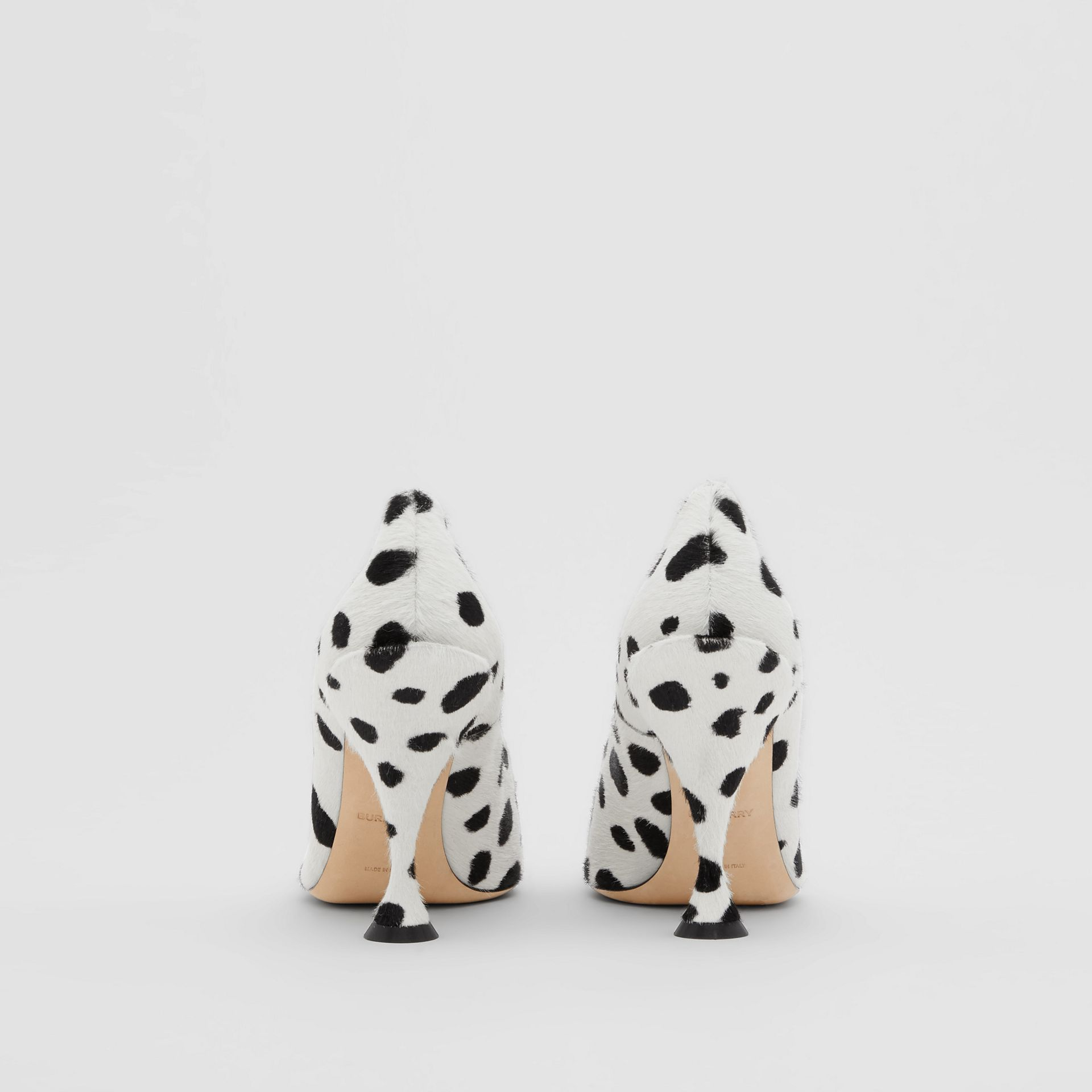 Dalmatian Print Calf Hair Pumps in Optic White/black - Women | Burberry United Kingdom - gallery image 4