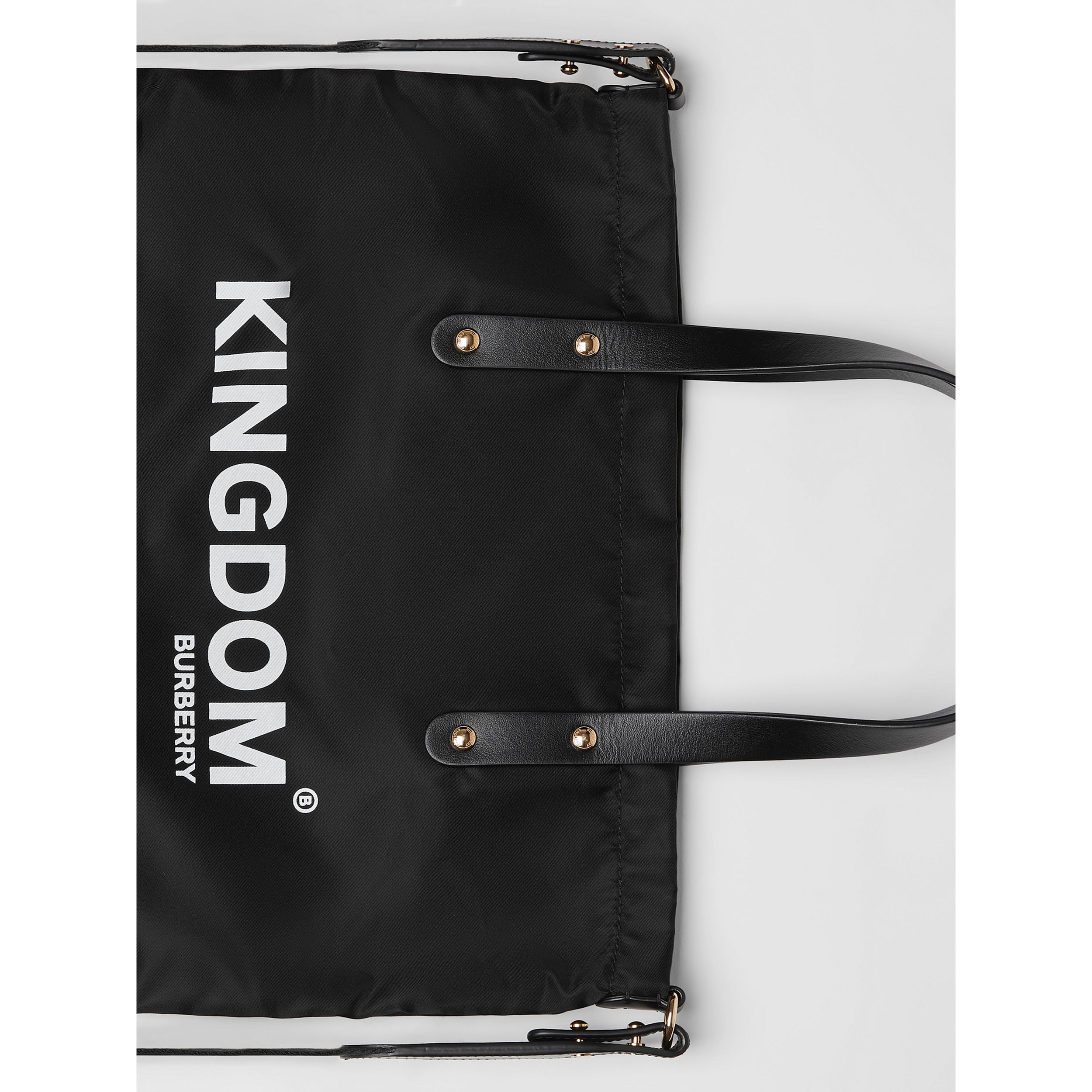 Kingdom Print Nylon Tote in Black | Burberry - 2