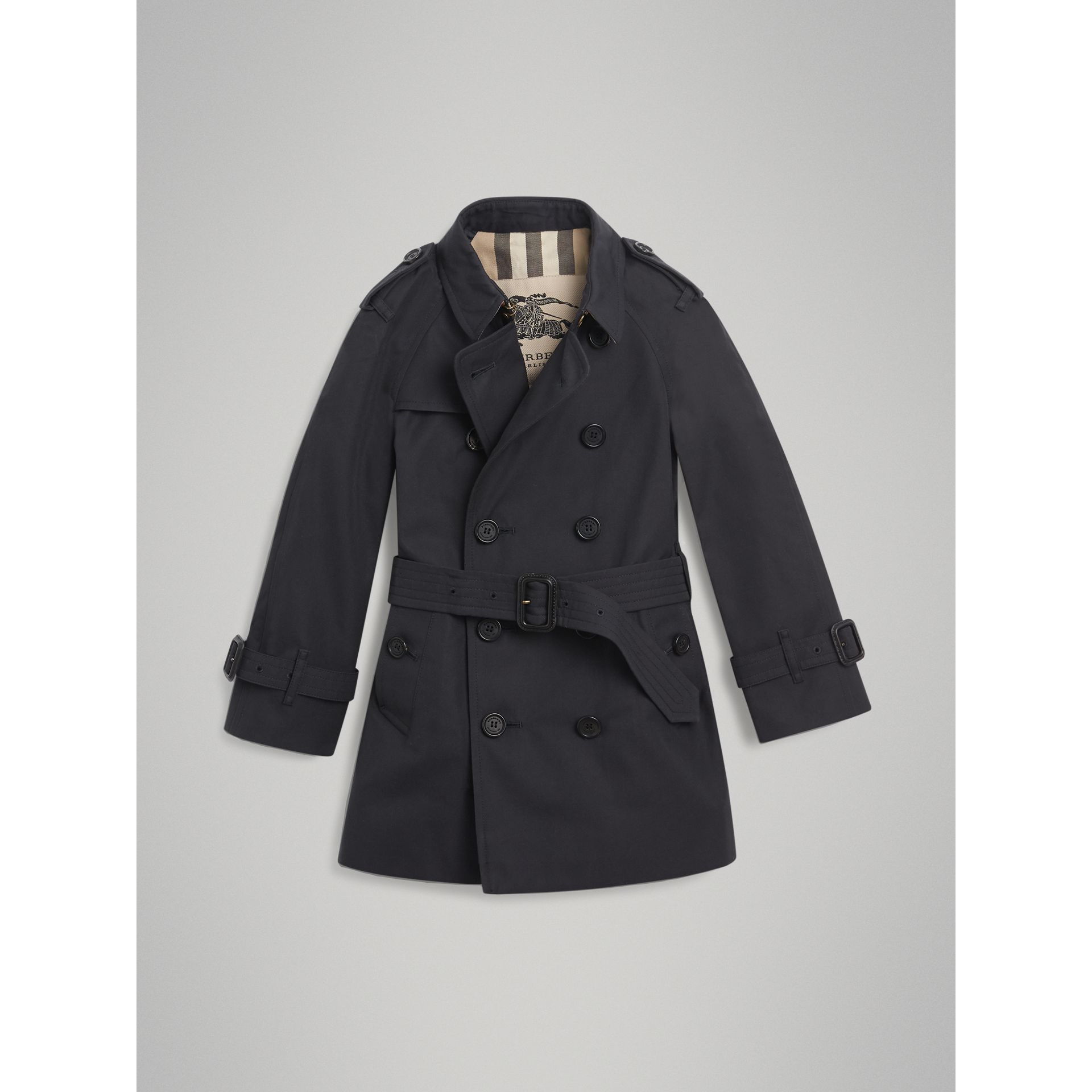 The Wiltshire Trench Coat in Navy - Boy | Burberry Australia - gallery image 3