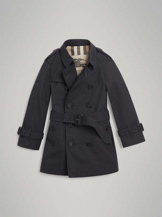 The Wiltshire Trench Coat in Navy - Boy | Burberry Australia - cell image 3