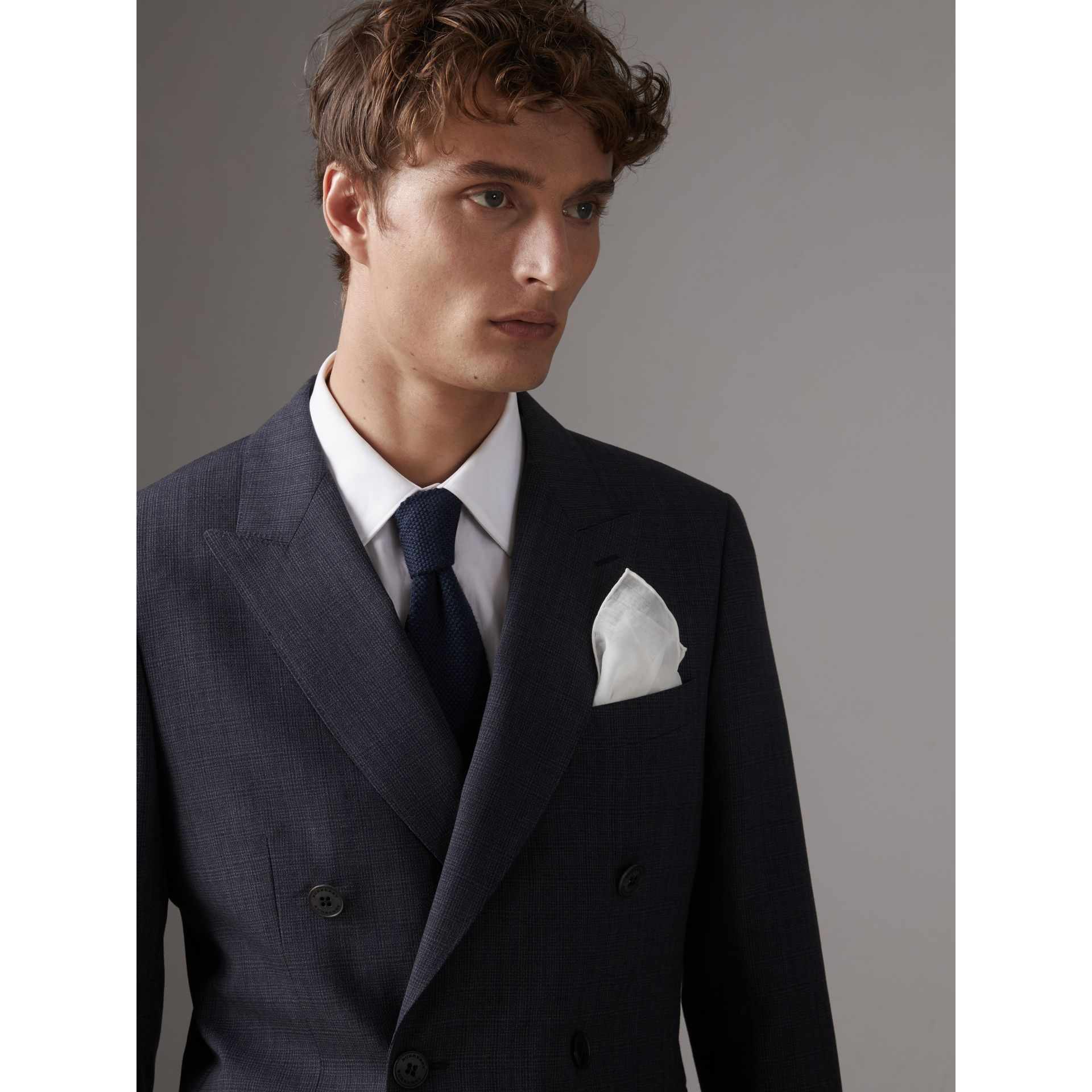 Cotton Silk Pocket Square in White - Men | Burberry - gallery image 2
