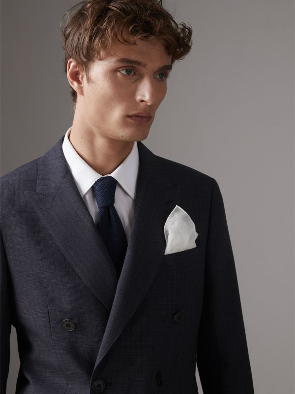 Cotton Silk Pocket Square in White - Men | Burberry Canada - cell image 2