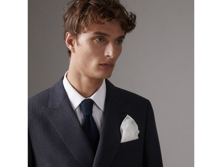 Cotton Silk Pocket Square in White - Men | Burberry - cell image 2