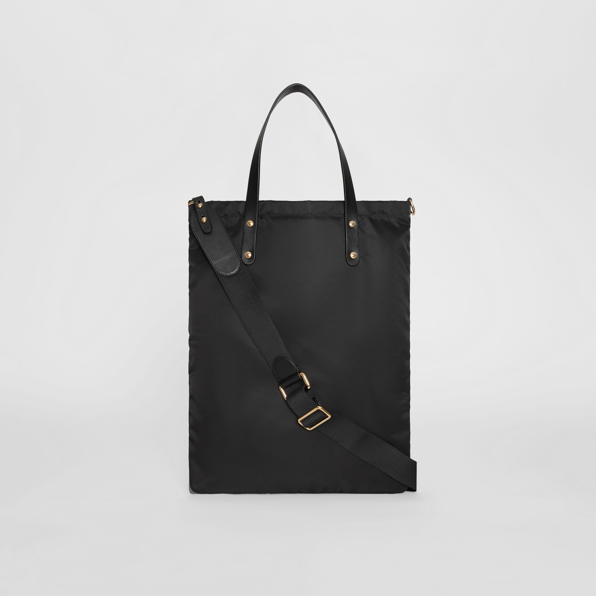Kingdom Print Nylon Tote in Black | Burberry - gallery image 5