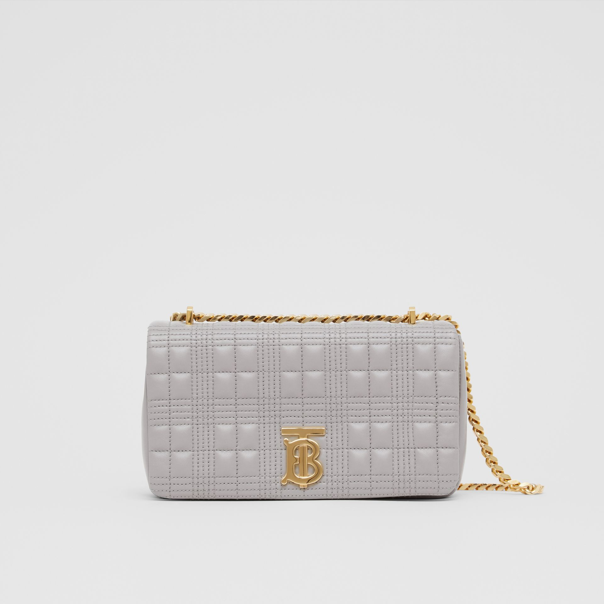Small Quilted Lambskin Lola Bag in Cloud Grey | Burberry - gallery image 0