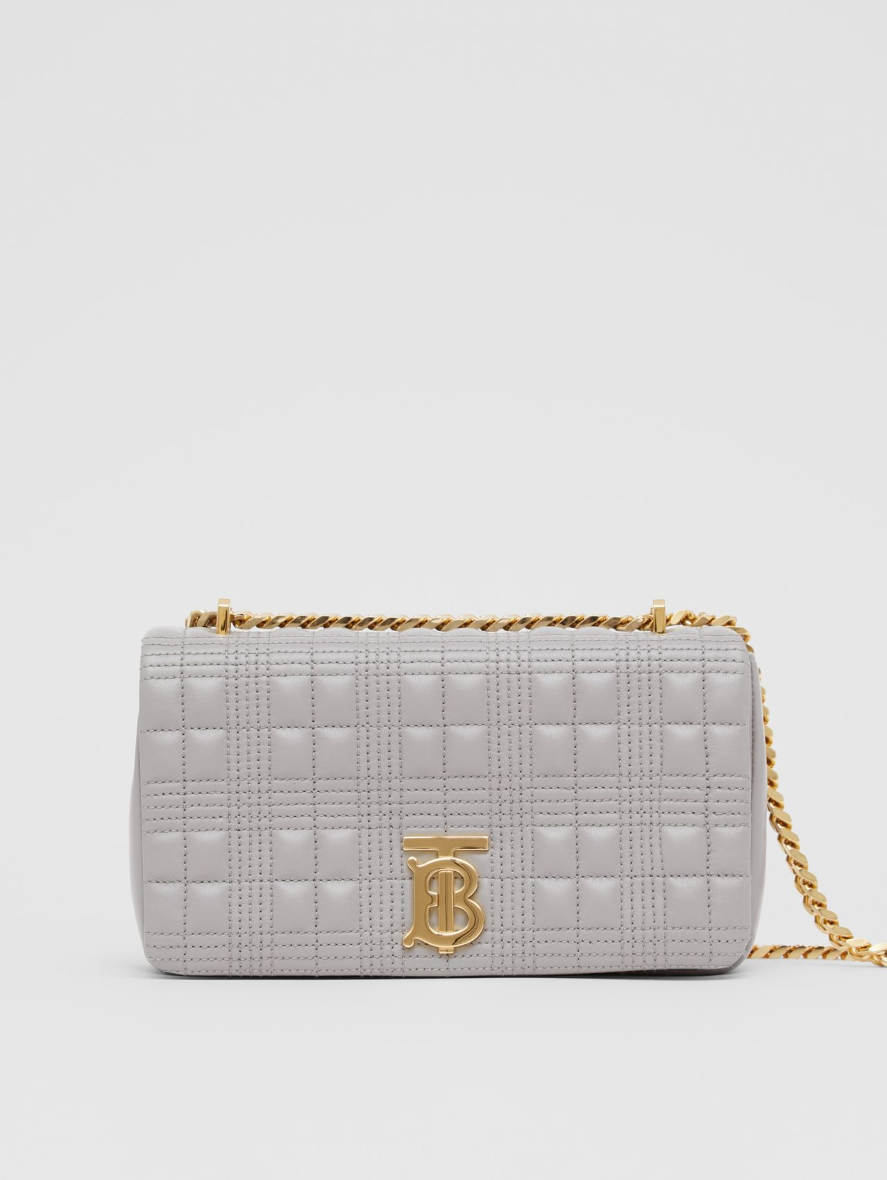 Small Quilted Lambskin Lola Bag in Cloud Grey