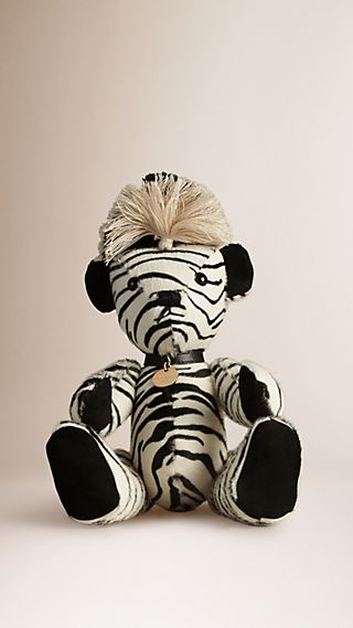 Thomas Bear in Zebra Calfskin