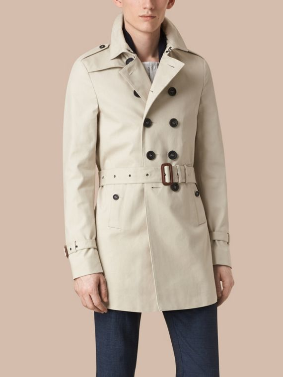 Stone Cotton Gabardine Trench Coat - cell image 2