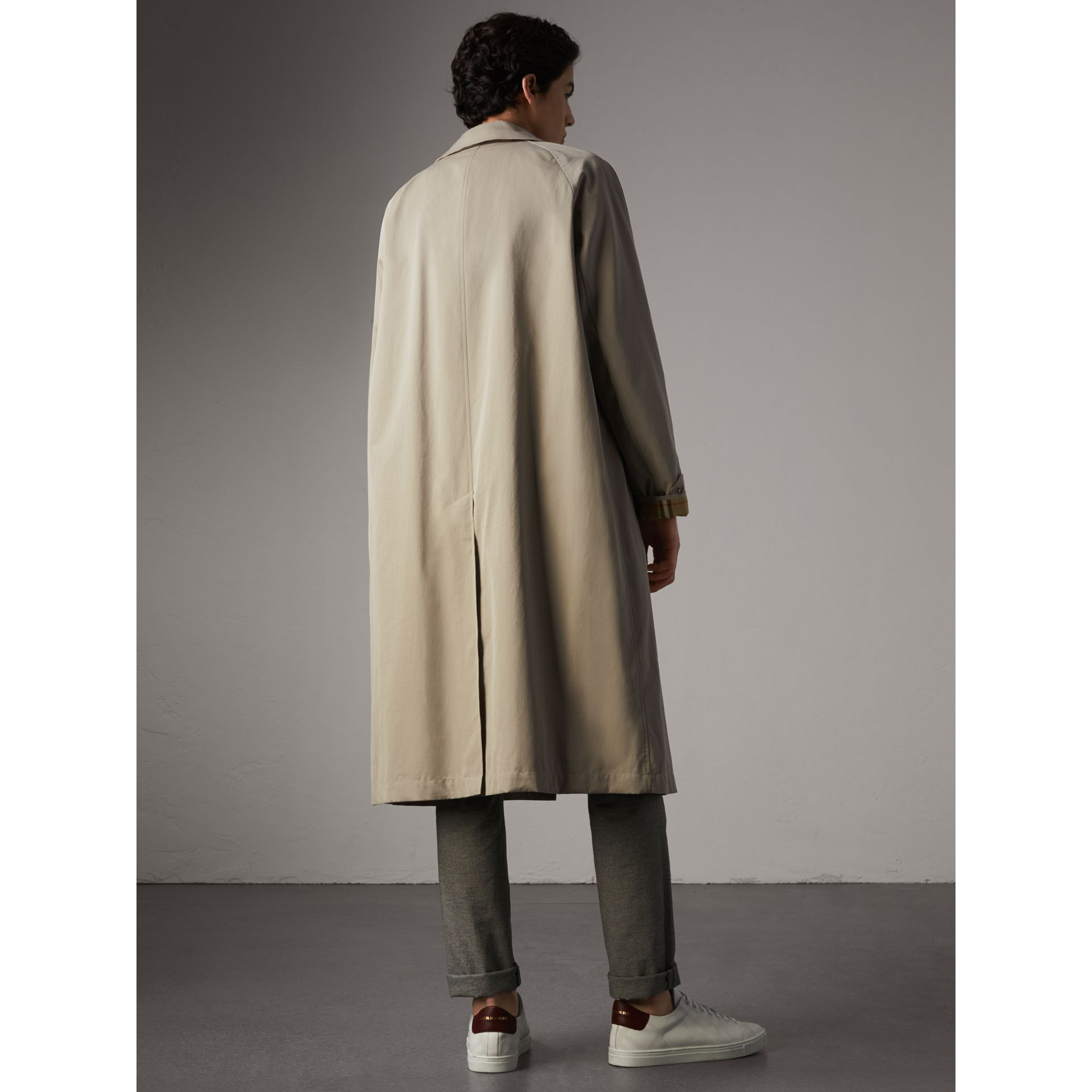 The Brighton – Longline Car Coat in Sandstone - Men | Burberry - gallery image 3