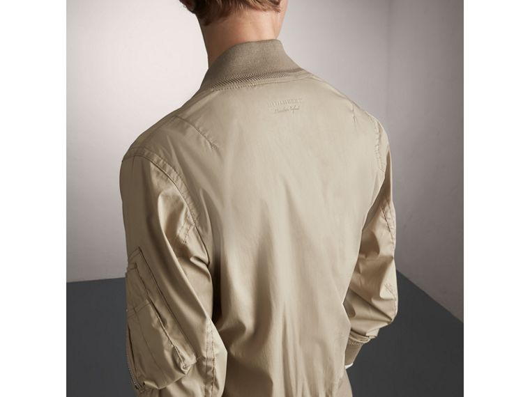 Cotton Blend Twill Bomber Jacket - cell image 1