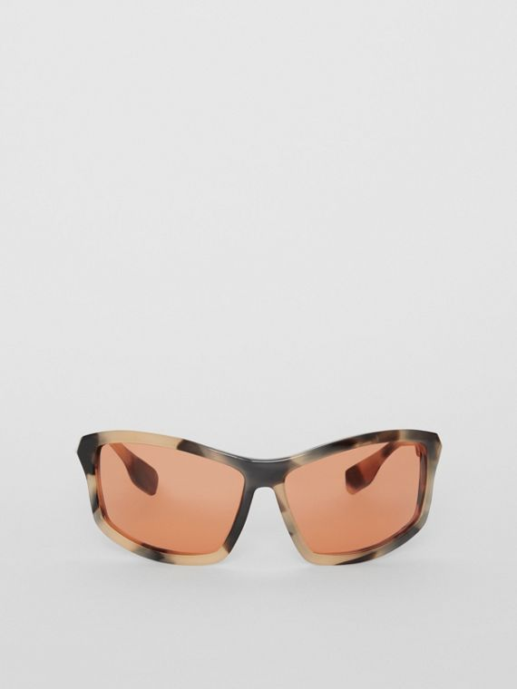 Wrap Frame Sunglasses in Orange