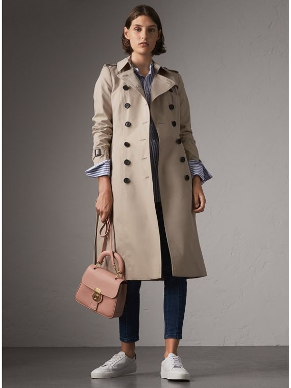 The Chelsea – Extra-long Trench Coat in Stone