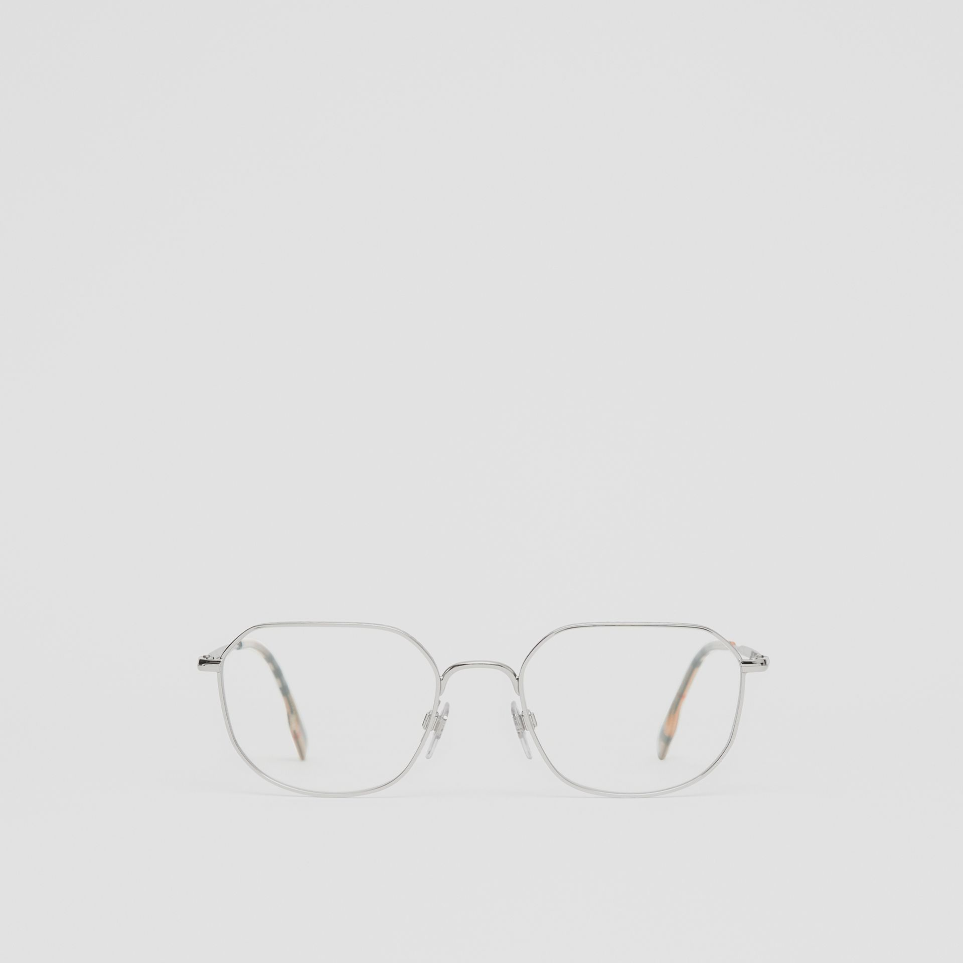Palladium-plated Square Optical Frames in Silver - Women | Burberry - gallery image 0