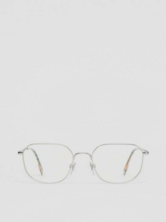 Palladium-plated Square Optical Frames in Silver