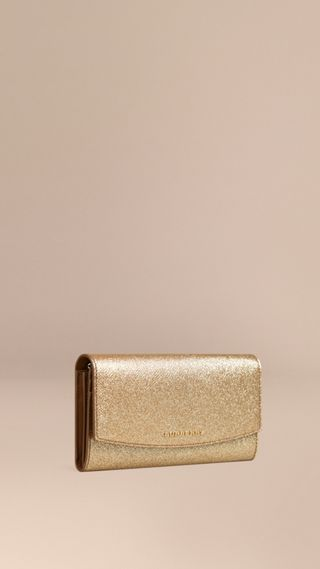 Glitter Patent London Leather Continental Wallet