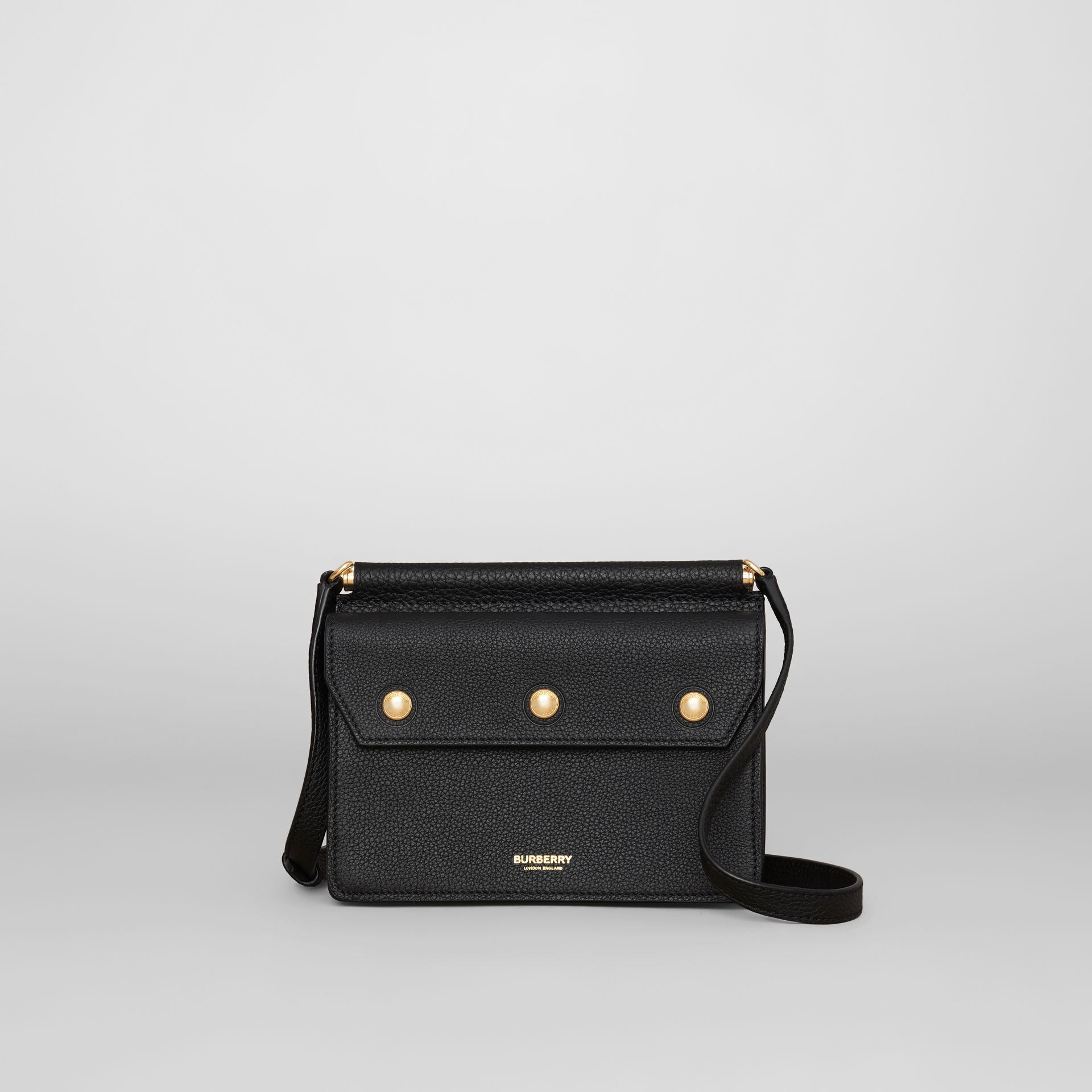 Mini Leather Title Bag in Black - Women | Burberry Hong Kong S.A.R. - gallery image 0