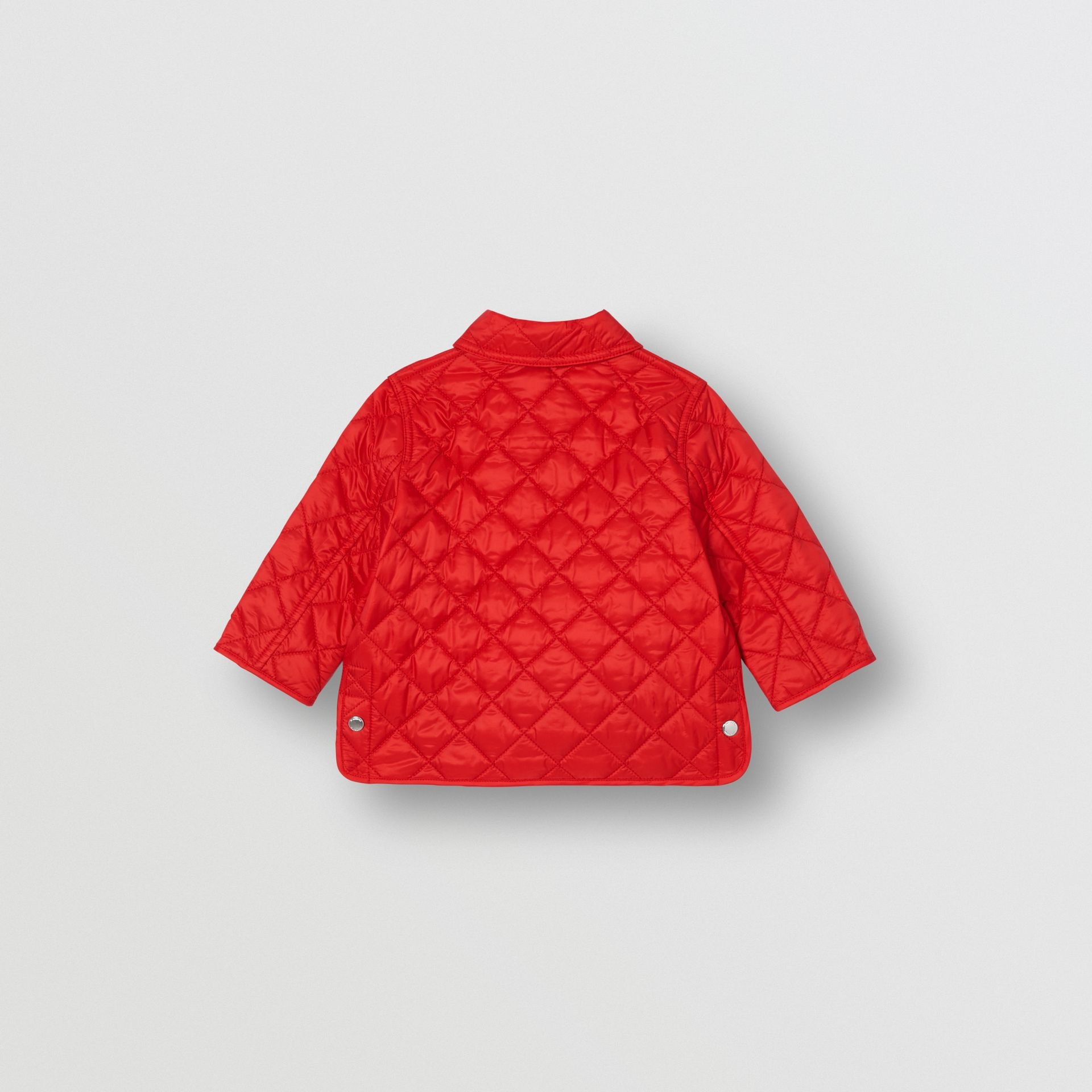 Lightweight Diamond Quilted Jacket in Bright Red - Children | Burberry United Kingdom - gallery image 4