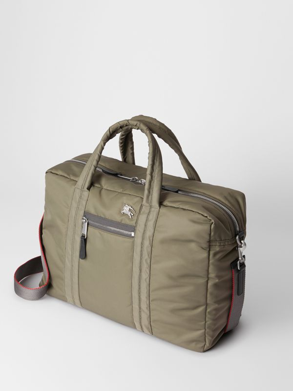 EKD Aviator Nylon and Leather Briefcase in Celadon - Men | Burberry - cell image 3