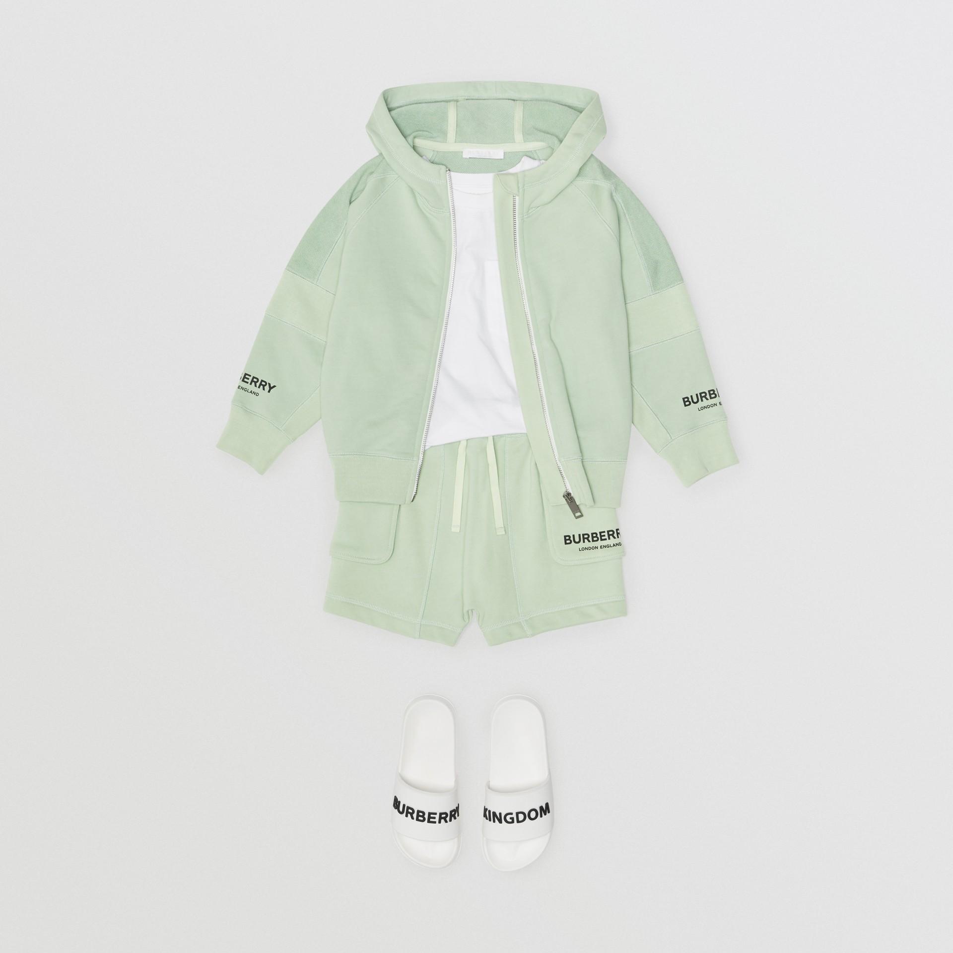 Short à cordon de serrage en coton avec logo (Menthe Pâle) | Burberry - photo de la galerie 2