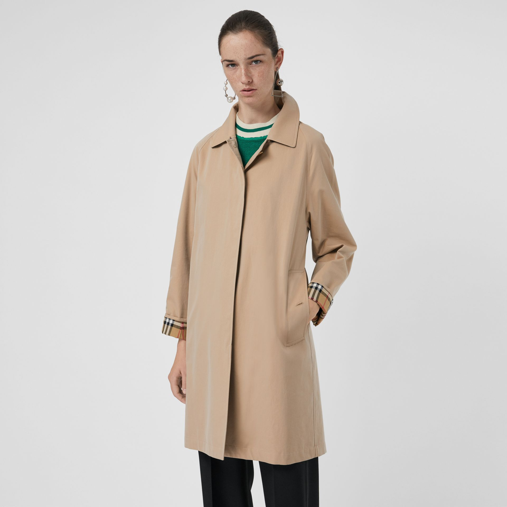 The Camden Car Coat in Honey - Women | Burberry - gallery image 5