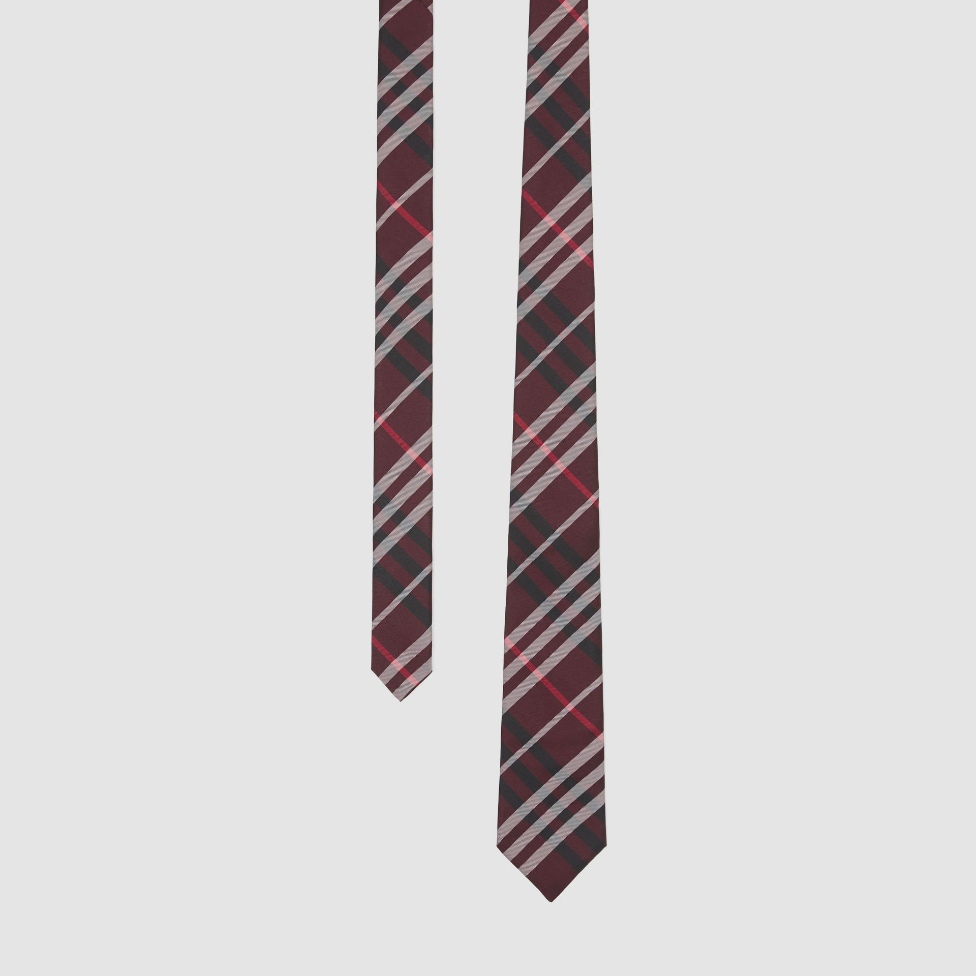 Classic Cut Vintage Check Silk Tie in Claret - Men | Burberry United Kingdom - gallery image 0