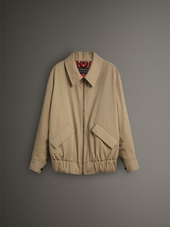 Tropical Gabardine Harrington Jacket in Honey - Men | Burberry United Kingdom - cell image 3