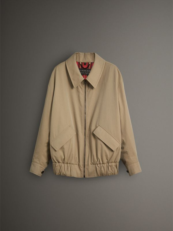 Tropical Gabardine Harrington Jacket in Honey - Men | Burberry - cell image 3