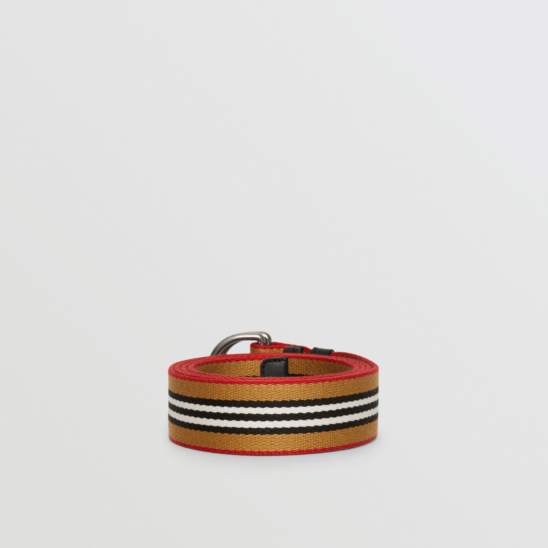 Heritage Stripe Double D-ring Belt in Vintage Check - Women | Burberry - gallery image 3