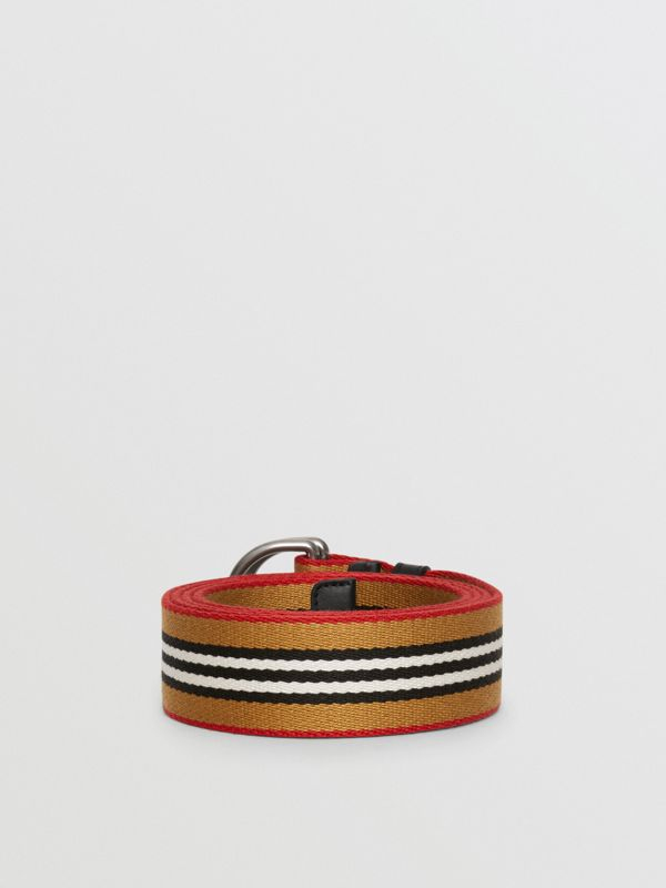 Heritage Stripe Double D-ring Belt in Vintage Check - Women | Burberry - cell image 3