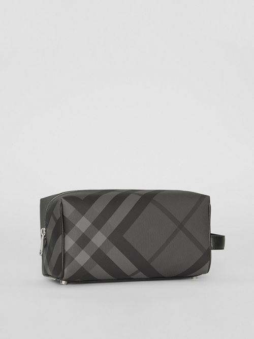 BURBERRY Pouches London Check and Leather Pouch