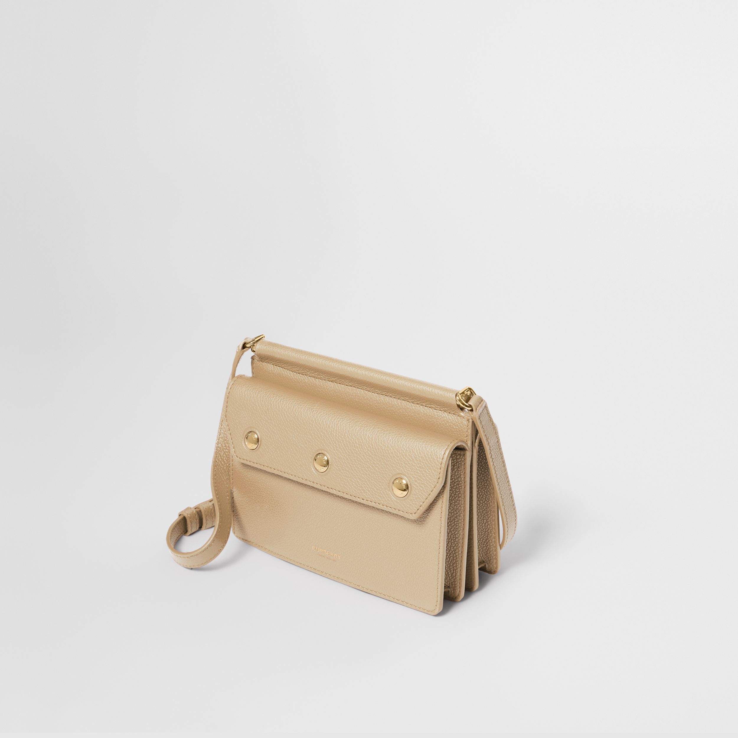 Mini Leather Title Bag with Pocket Detail in Honey - Women | Burberry Singapore - 4