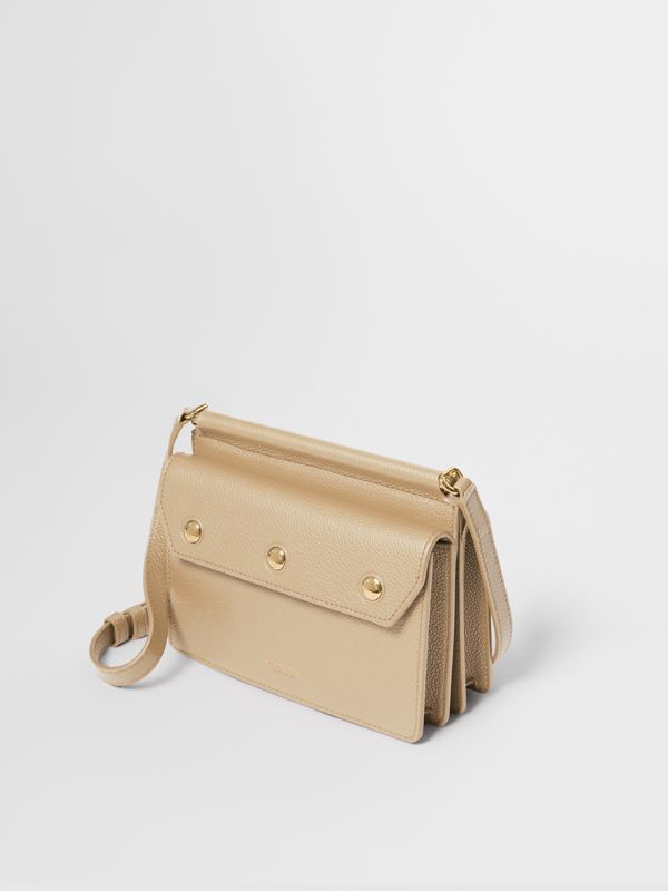 Mini Leather Title Bag with Pocket Detail in Honey - Women | Burberry - cell image 3