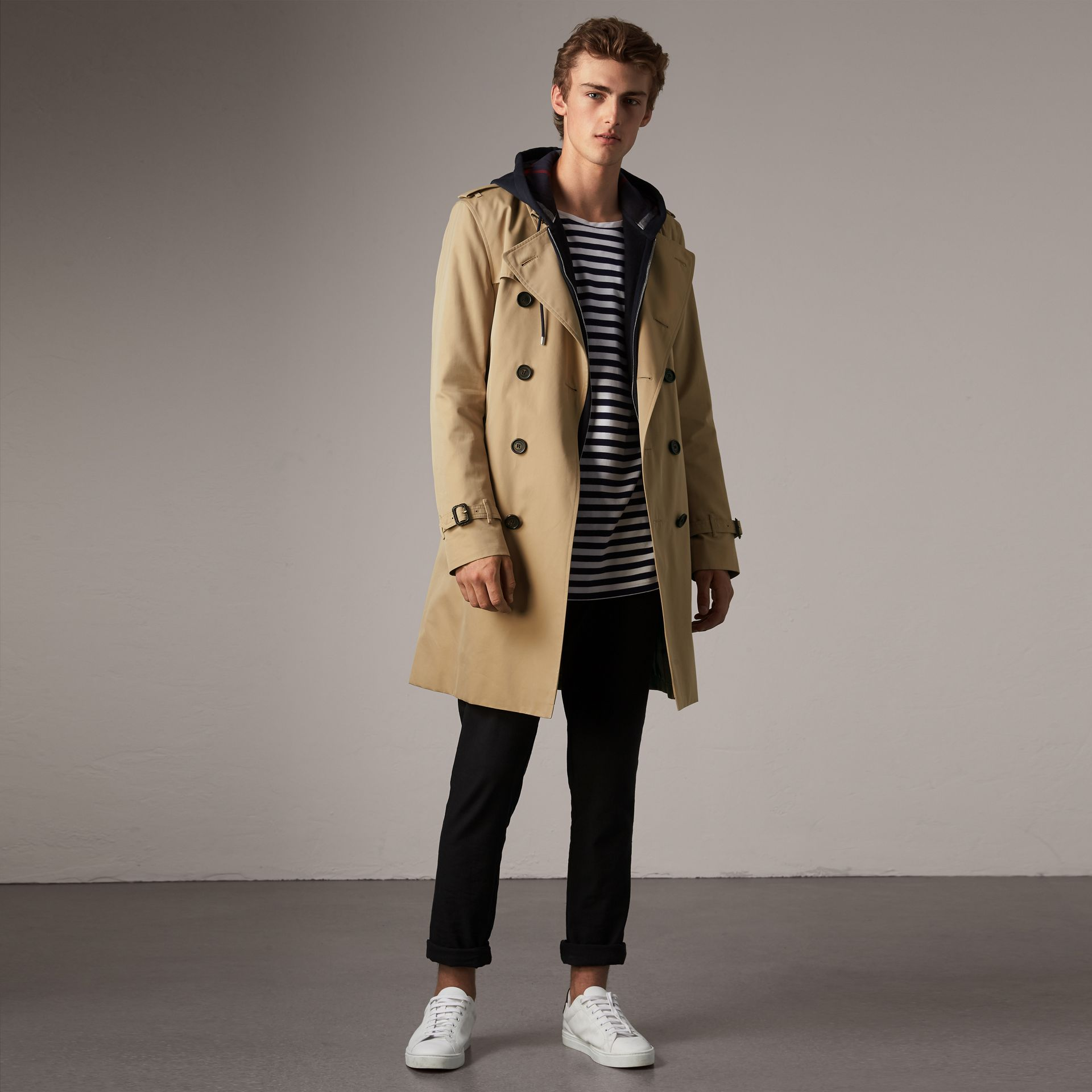 4c3bca08204a The Kensington – Long Trench Coat in Honey - Men